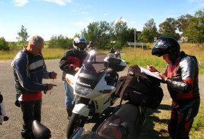 The Ride North - Checking on directions