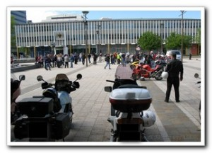 Looking Across Civic Square, Canberra, Australia, Motorcycle Awareness Week 11 Oct 2008