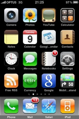 Image of iPhone Screen