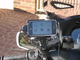 iPhone mounted on the RAM Mounts