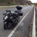 Another photo of Phil's Kawasaki GTR1400 after the motorcycle accident
